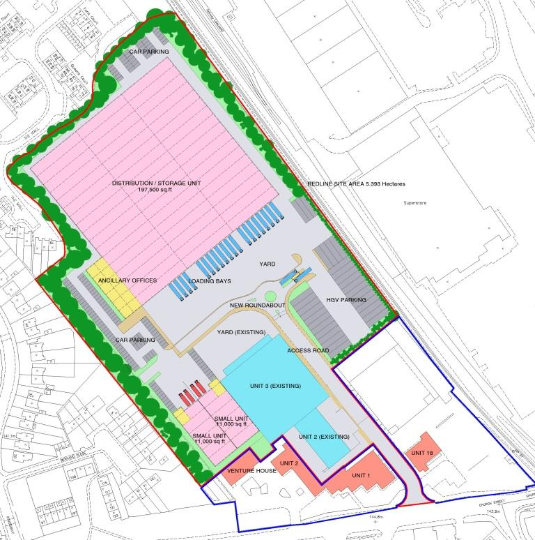Warehouse Masterplan, Dunstable, Bedfordshire