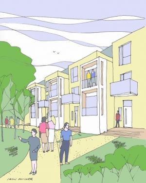 Student Housing, Sketch Study