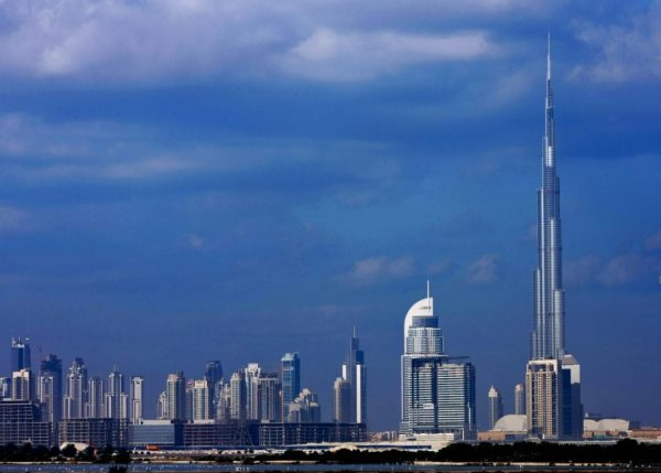 Dubai skyline with the Burj Khalifa - the world's tallest building