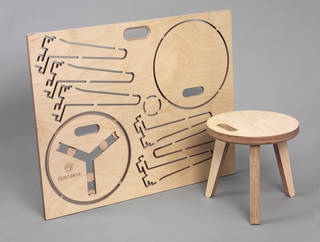 Edie Stool by David and Joni Steiner photo Victoria and Albert Museum