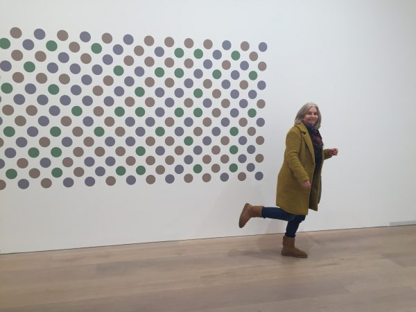 Diana and Bridget Riley Disc wall painting David Zwirner Gallery 2018