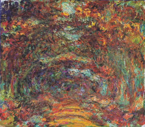 Claude Monet The Rose Walk, Giverny