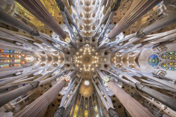 Sagrada Familia interior view
