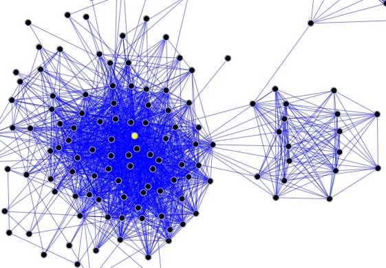 Social network diagram author DarwinPeacock, Maklaan