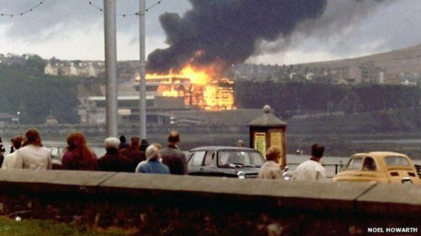 Summerland fire 1973 photo Noel Howarth