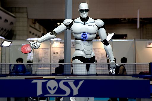 TOSY Ping Pong Playing Robot Photo humanrobo